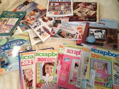 Scrapbook magazines Lot and books great for Gift For Mom Mothers Day  | eBay