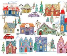 All Around Town Deluxe Boxed Holiday Cards (Christmas Cards, Holiday Cards, Greeting Cards): Peter - Holiday Christmas Is Over, Retro Christmas, Vintage Christmas Cards, Christmas Images, Xmas Cards, Christmas Art, Christmas Greetings, Winter Christmas, Holiday Cards