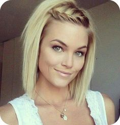 Pretty short blonde hairstyle for thin hair – hair cut ideas Up Hairstyles, Pretty Hairstyles, Braided Hairstyles, Teenage Hairstyles, Hairstyle Short, Hair Updo, Braided Locs, Short Undercut, School Hairstyles