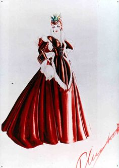 Costume sketches that designer Walter Plunkett executed for Gone With the Wind (1939)