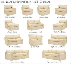 Build Your Own Sectional Sofa Slipcover Slipcovers Modern Outdoor Furniture Square