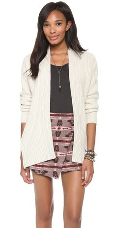 Loving this cardigan. It looks as polished as wearing a blazer.