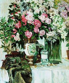 Александр Яковлевич Головин ( 1863 - 1930) Розы и фарфор. 1910-е