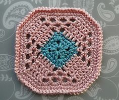 X Coaster - free crochet pattern by Claire from Crochet Leaf.