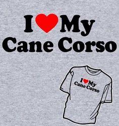 I Love my Cane Corso feliratú férfi póló