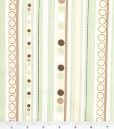 "Nursery Cotton Fabric 43""-Monkey Stripe"
