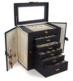 Kendal Huge Leather Jewelry Box / Case / Storage LJC-SHD5BK (black) Kendal http://www.amazon.com/dp/B011DAS476/ref=cm_sw_r_pi_dp_ji.Wwb0AEZ72F