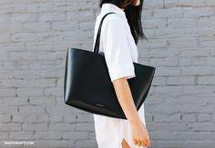 black leather tote #bag