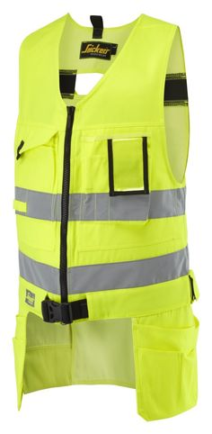 Our #toolvest is also available in High Visibility Yellow and orange Class 2. Improve your safety and carry around your #tools with ease in one of the many pockets, holster pockets and compartments. You can wear it over a jacket and it will still be comfortable bue to the strechy back. Avalable in sizes XS-XXL. - Snickers Workwear Artnr. 4233