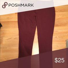Maurice's maroon skinny pant Brand new soft legging/  straight leg pants. Worn once. Very comfortable. Maurices Pants Straight Leg