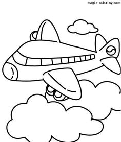 Jet Airplane Coloring Page | Jack's 2nd birthday ...