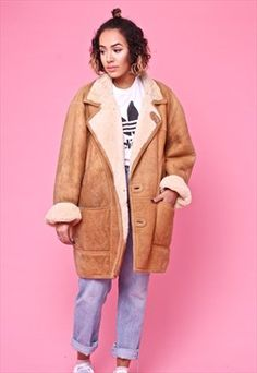 Vintage 70s Sheepskin Shearling Coat 2369945