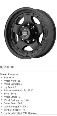 Will the AR23 Wheel fit on a 2000 Ford E350 Econoline 7.3? The wheels are 16 inch and tires are 245/75/R16. Thank you! #Ford #cars #car #FordGT #focus #fiesta #auto #F150