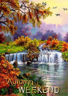 Animated Gif by Paula Constantinescu Beautiful Gif, Beautiful World, Beautiful Places, Wall Art Pictures, Canvas Pictures, Beautiful Waterfalls, Beautiful Landscapes, Foto Gif, Nature Gif