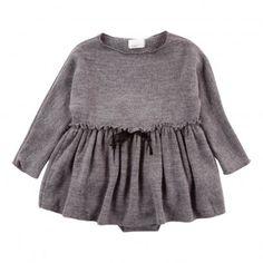 Clarise Dress Babygrow Dark grey  Buho