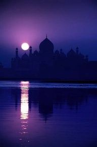 It's hard to tell in the dark (beautifully artistic shot, btw!) but I think this is the Taj Mahal?  My husband is Bengali, and even though we've been to MY home country (Armenia) a bajillion times, we've never made it to India together.  YET.  IT WILL HAPPEN,  OH YES.  If only to introduce our daughters to an awesome part of their heritage. <3