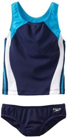 Speedo Big Girls'  Solid Infinity Splice Tankini Swimsuit, Deep Water, 16 Speedo http://www.amazon.com/dp/B009TPKK6Q/ref=cm_sw_r_pi_dp_bEYBvb1P0K43S