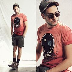 Life Clothing Co. Space Head '73 Shirt, Welcome Stranger Shorts, Forever 21 Boots, Rustix Usa Hat, Wild Soul Sunglasses #fashion #mensfashion #menswear #style #outfit