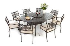 This is one of best selling metal outdoor sets for 8! http://outsideedgegardenfurniture.co.uk/