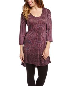 This Purple Scroll Tunic by Casa Lee is perfect! #zulilyfinds