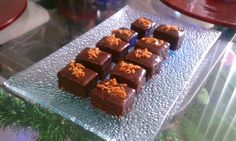 #WhatsOnMyPlate via @chefJmiller - Pound Cake w/ Nutella Petit Four topped w/ Peanut Brittle