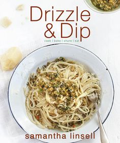 """""""Drizzle & Dip"""" by (food blogger) @Samantha Linsell. The book is divided into three chapters: """"morning,"""" """"noon,"""" and """"night."""" Each section of the book focuses on recipes recommended during a specific time of day, also taking into account the prep time available to the busy home-cook."""