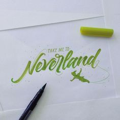 Take me to Neverland. Crayola & Brushpen Lettering Set 4 on Behance Calligraphy Doodles, Calligraphy Words, Typography Letters, Penmanship, Crayola Calligraphy, Calligraphy Alphabet, Creative Typography, Islamic Calligraphy, Types Of Lettering