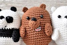 Como hacer osos de amigurumi - IDEASENCROCHET.COM Crochet Gratis, Lana, Macrame, Beanie, Knitting Videos, Crochet Cushions, Sewing Stitches, Bear Patterns, Searching
