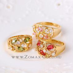Aisa gyűrű - Zomax Gold divatékszer www. Gemstone Rings, Gemstones, Gold, Jewelry, Jewlery, Gems, Jewerly, Schmuck, Jewels