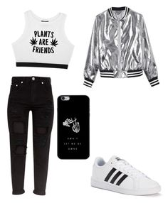 """""""⚫️◽️▪️⬜️"""" by prettylittlelizzy on Polyvore featuring Minga, Sans Souci and adidas"""