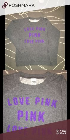 Pink Sweatshirt Victorias Secret Pink sweatshirt. NO holes rips or stains. PINK Victoria's Secret Tops Sweatshirts & Hoodies