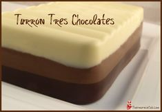 Turron tres chocolates by joseareality on www. Chocolate Thermomix, Tres Chocolates, Thumbnail Image, Butter Dish, Cheesecake, Dishes, Desserts, Food, Decadent Cakes
