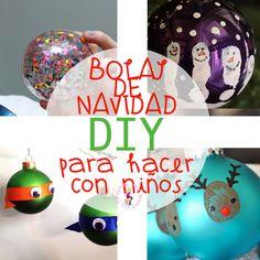 Bolas de Navidad para hacer con niños