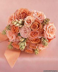 finally found a picture of a bouquet that's similar to what's in my head.  Picture this with peach/cream roses and burgundy berries :)