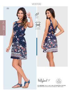 Vestido de flores de Hollyland, catalogo Price Shoes. Vestido de flores para el verano.