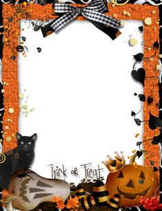orange fram png | Halloween_Orange_PNG_Photo_Frame.png?m=1375182557