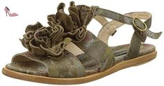 S943 Fantasy Aurora, T-Strap Sandals Femme, Vert (Floral Taupe), 38 EUNeosens