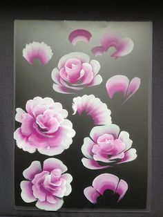 Orchid Nail: Tuto rose one Stroke