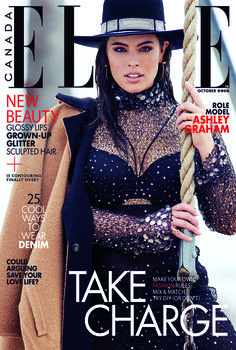 Ashley Graham Lands 'Elle Canada' Cover, Talks Sex, Self-Worth and Dyslexia