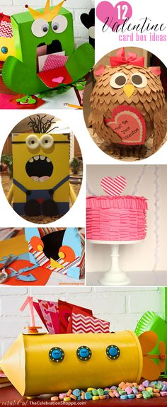 12 Valentine Card Boxes for Class Valentine Parties | So Many Cute Ideas!