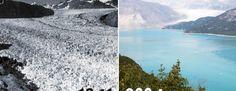 La Tierra entonces y ahora: increíbles imágenes que revelan los cambios dramáticos en nuestro planeta #viral