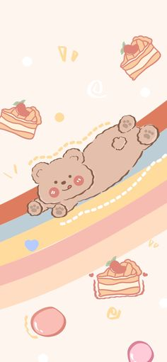 Floral Wallpaper Phone, Bear Wallpaper, Wallpaper Iphone Cute, Wallpaper Quotes, Cute Wallpapers, Wallpaper Backgrounds, Lock Screen Wallpaper, Aesthetic Backgrounds, Aesthetic Wallpapers