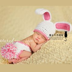 Spring bunny ears stereolithography winter hat baby pictures bab