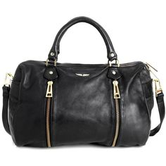 Zadig & Voltaire Bag Sunny (15.315 UYU) ❤ liked on Polyvore featuring bags, handbags, purses, borse, black, hand bags, zip purse, shoulder strap purses, handbag purse and strap bag