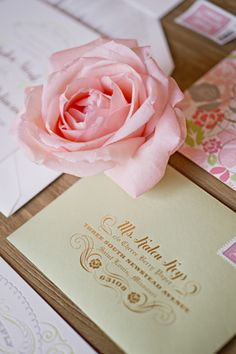 metallic foil envelope printing by Cheree Berry   Harwell Photography #wedding