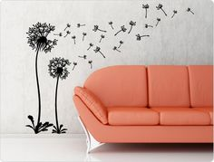 Wandtattoo Pusteblume als florale Wanddeko - I-love-Wandtattoo.de