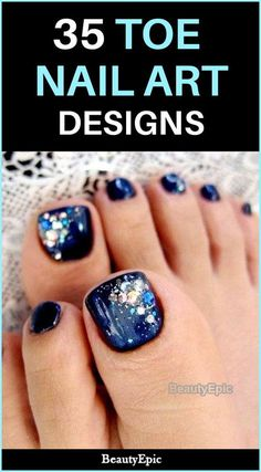 35 Toe Nail Art Designs You are looking for nail art for your beautiful toes? Here we show you the amazing list of 35 Simple and Easy Toe Nail Art Design Ideas Simple Toe Nails, Pretty Toe Nails, Cute Toe Nails, Toe Nail Art, Nail Art Diy, Easy Nail Art, Diy Nails, Pedicure Designs, Manicure Y Pedicure