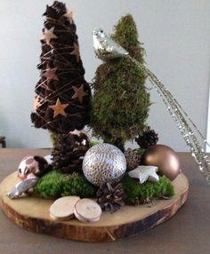 Kerst #Holzscheibe