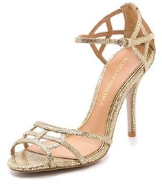 Badgley Mischka Kerrington Metallic Sandals on shopstyle.com