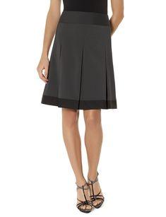 Black a-line skirt with pretty hem